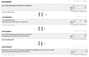zeigt Schieberegler, die zur Vorschläge zu den Phrasen gibt